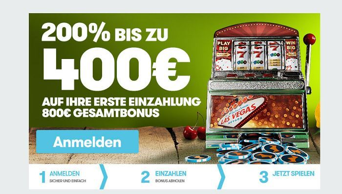 800€ Special Angebot im Intercasino