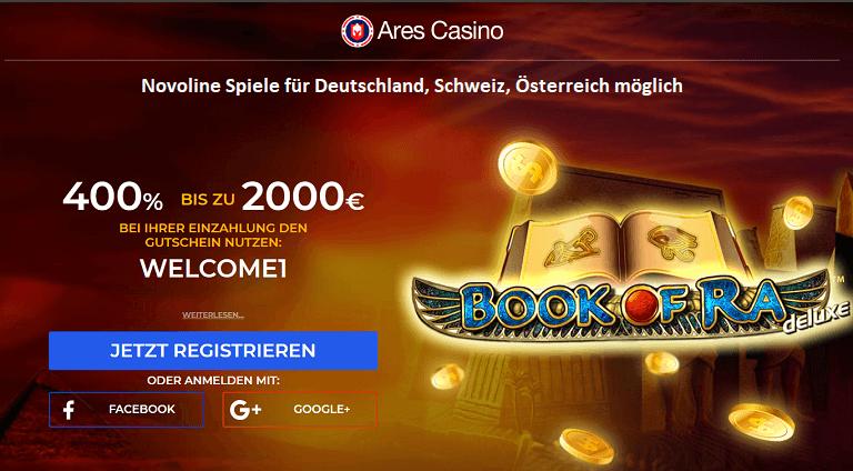 Ares Casino 5 Euro gratis ohne Einzahlung
